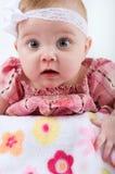 婴孩宽眼睛女孩 免版税库存图片