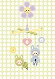 婴孩小儿床玩具 免版税库存图片