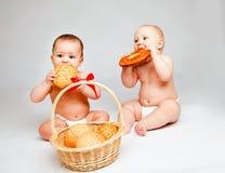 婴孩小圆面包 免版税图库摄影