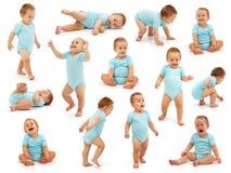 婴孩工作情况男孩收集s 免版税库存图片