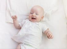 婴孩微笑 图库摄影