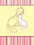 婴孩快乐看板卡的猫 库存照片