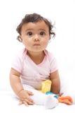 婴孩想知道 库存照片
