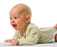 婴孩接近面朝上 免版税库存照片