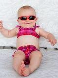 婴孩比基尼泳装 免版税图库摄影