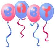 婴孩气球 免版税库存图片