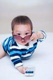 婴孩消沉表达式 免版税库存图片