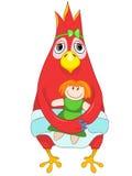 婴孩滑稽的鹦鹉 库存照片