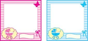 婴孩照片框架。 图库摄影