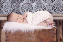 婴孩疲倦 免版税库存照片