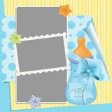 婴孩的看板卡的逗人喜爱的模板 库存照片