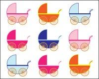 婴孩看板卡新的婴儿推车 免版税库存照片