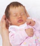 婴孩睡眠者 库存图片