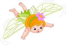婴孩神仙飞行 库存图片