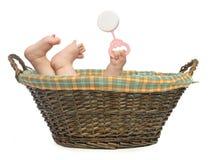 婴孩篮子 免版税库存照片