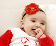 婴孩美丽的女孩 免版税库存图片