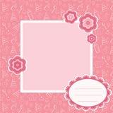 婴孩背景粉红色 免版税库存图片