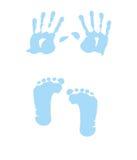 婴孩脚印女孩handprint 免版税库存图片