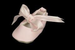 婴孩芭蕾舞鞋 免版税库存照片