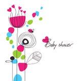 婴孩花卉愉快的阵雨 图库摄影