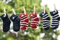 婴孩袜子 免版税库存照片