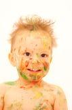 婴孩被绘 免版税库存照片