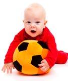 婴孩足球 免版税库存图片
