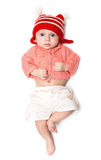 婴孩跳严重 免版税库存照片