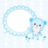 婴孩逗人喜爱熊的男孩 免版税库存图片