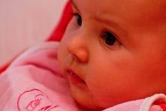 婴孩逗人喜爱的女性 免版税库存图片