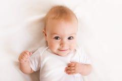 婴孩逗人喜爱的月六 免版税图库摄影