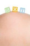 婴孩阻拦男孩 免版税库存图片