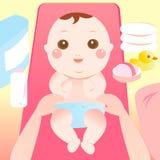 婴孩更改的尿布 免版税库存照片