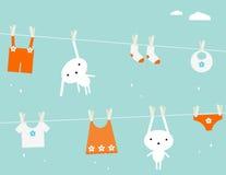 婴孩洗衣店 免版税库存图片