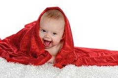 婴孩burried红色 免版税库存图片