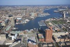 巴尔的摩港口 库存图片