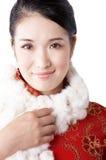 围巾佩带的妇女 免版税库存照片