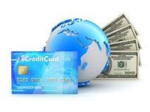 货币事务处理-概念例证 免版税库存照片
