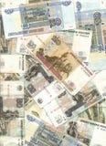 货币俄语 库存照片