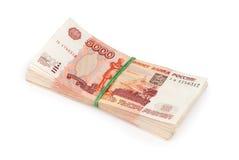 货币俄语 图库摄影