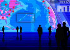 货币兑换外国市场场面 免版税图库摄影