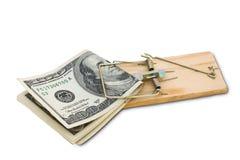 货币冒采取您的风险 免版税图库摄影