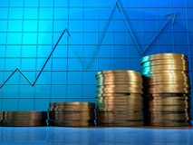货币利润 库存图片
