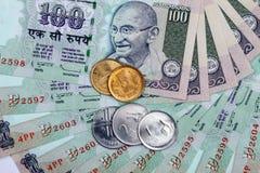 货币印第安卢比 库存照片