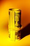 货币卷 库存照片