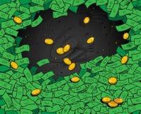 货币墙纸 免版税库存照片