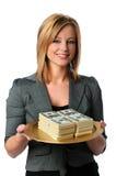 货币妇女 免版税库存照片