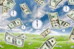 货币时间 图库摄影