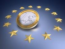 货币欧元 库存照片