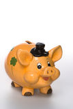 货币猪 免版税库存照片